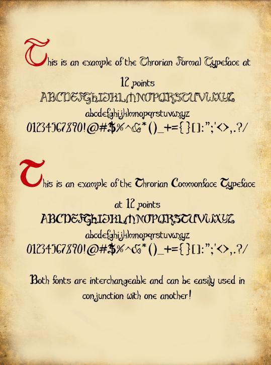 Throrian Formal font