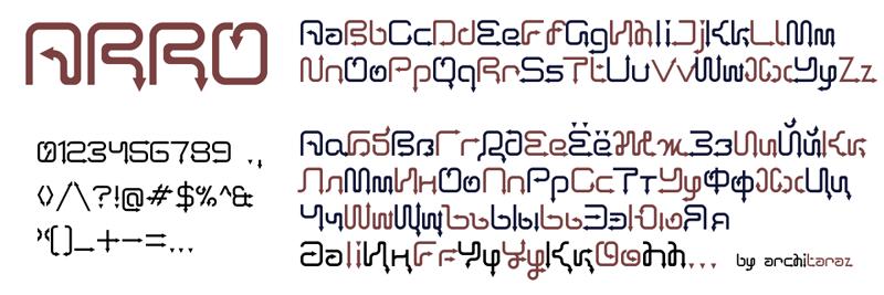 Arro font