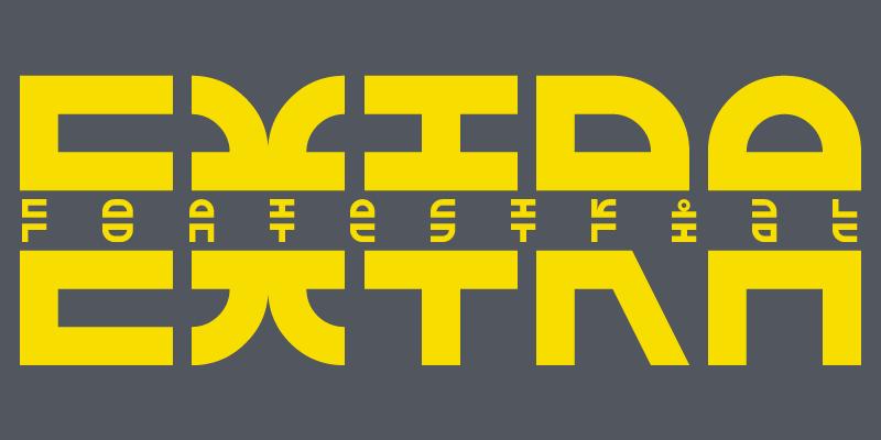 EXTRA Fontestrial font