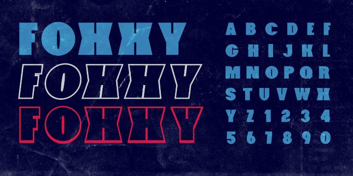 Foxxy font
