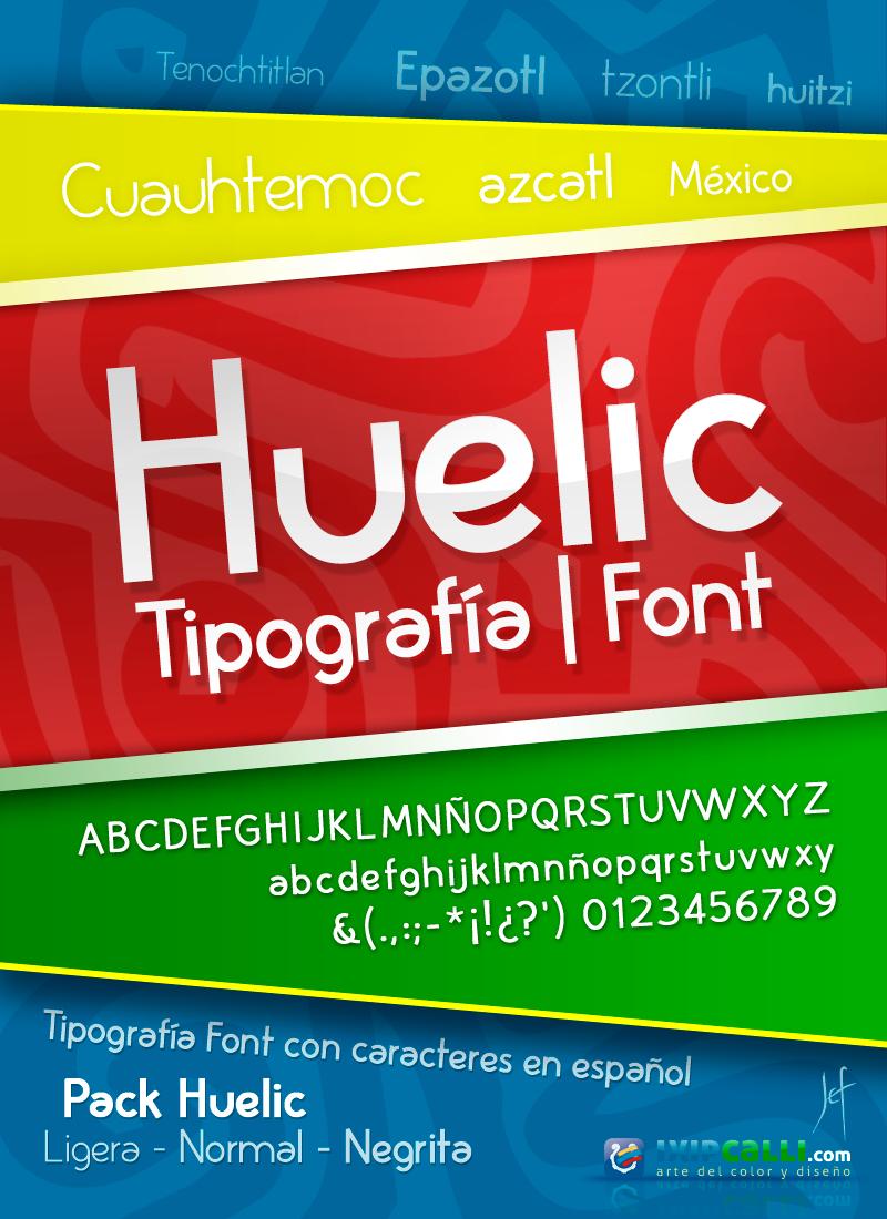 Huelic font