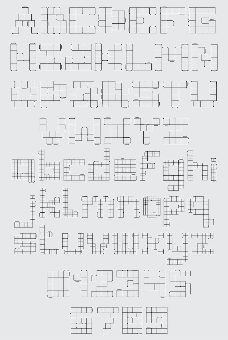 Nermin's Template font