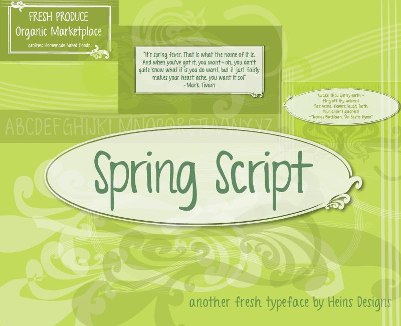 Spring Script font
