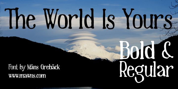 The World Is Yours font