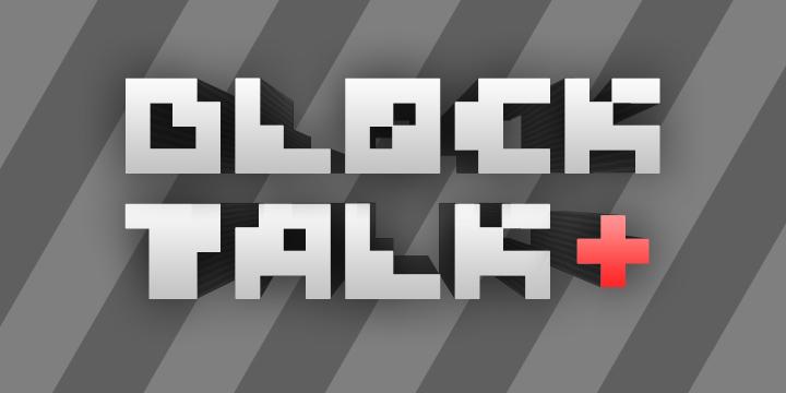 Block Talk font