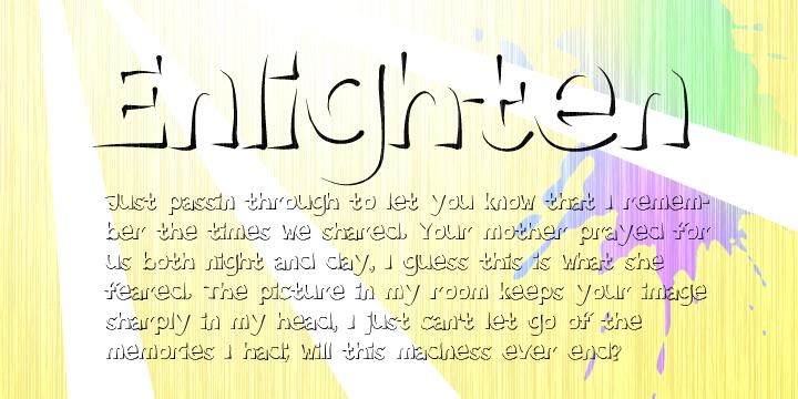 Enlighten font