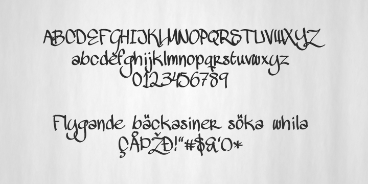 Mawns Handwriting font