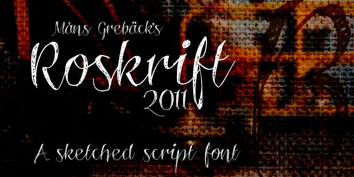 Roskrift font