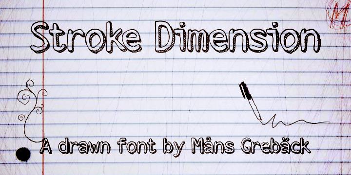 Stroke Dimension font