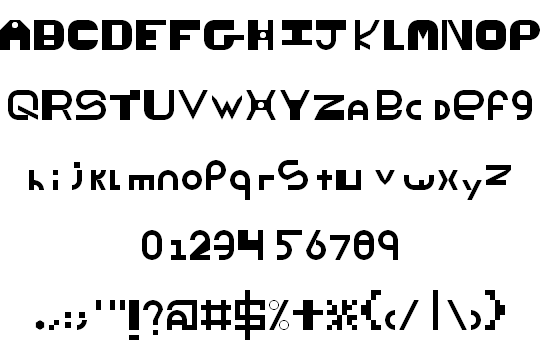 ThickThin font
