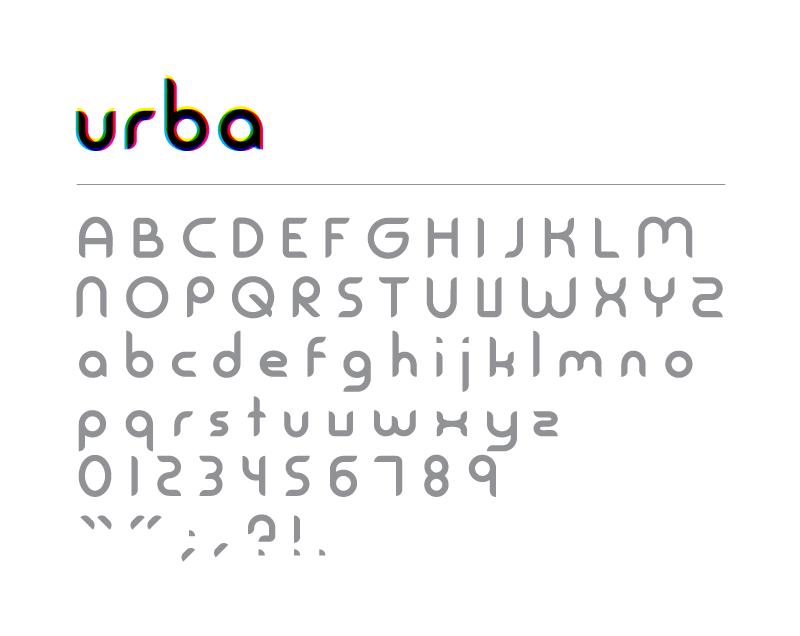Urba font