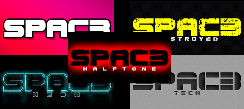 Space halftone font