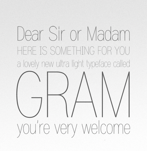 Gram font