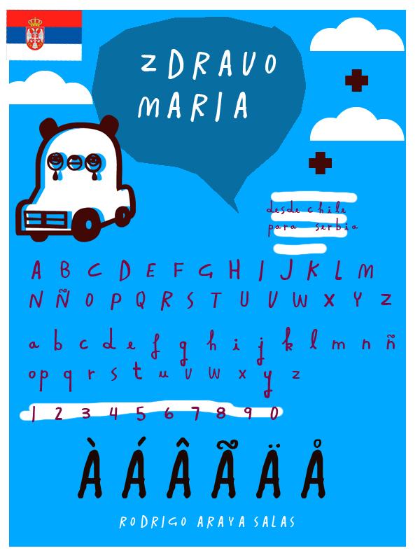 Zdravo Maria font