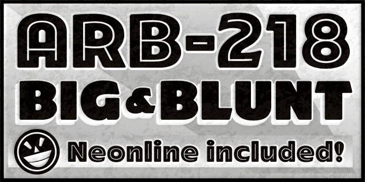 ARB-218 Big&Blunt font