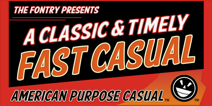 American Purpose Casual font