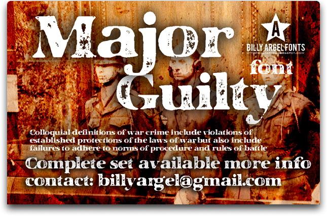 Major Guilty font