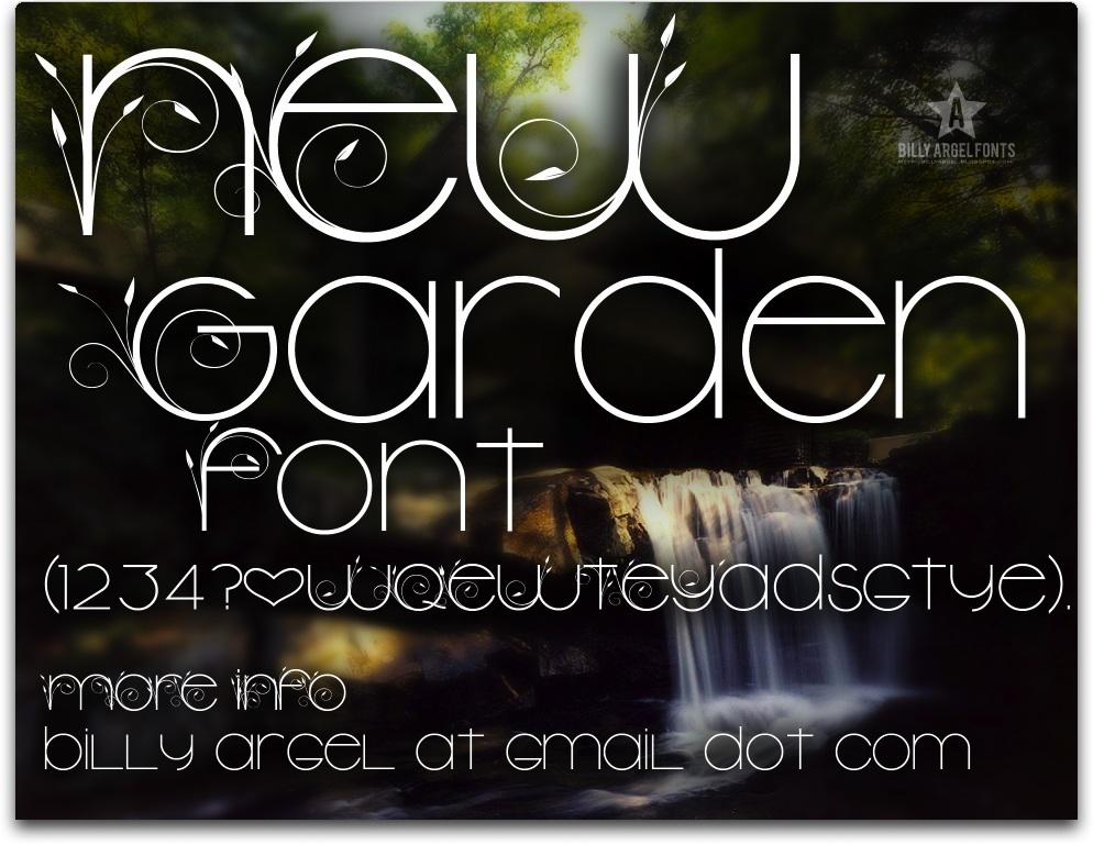 New Garden font