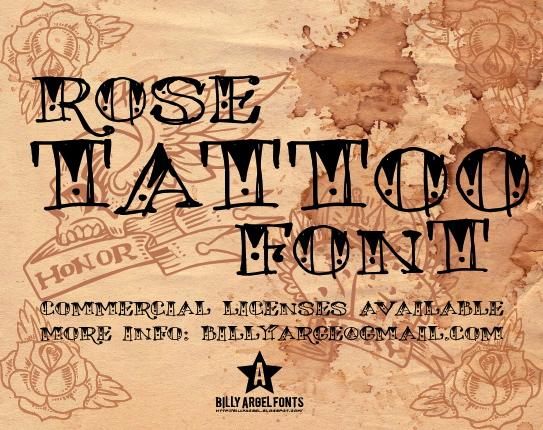 Rose Tattoo font