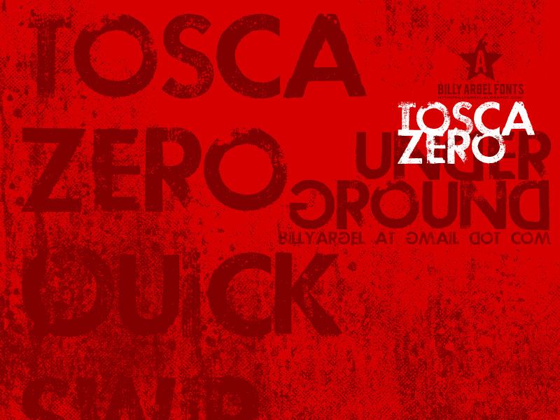 Tosca Zero font