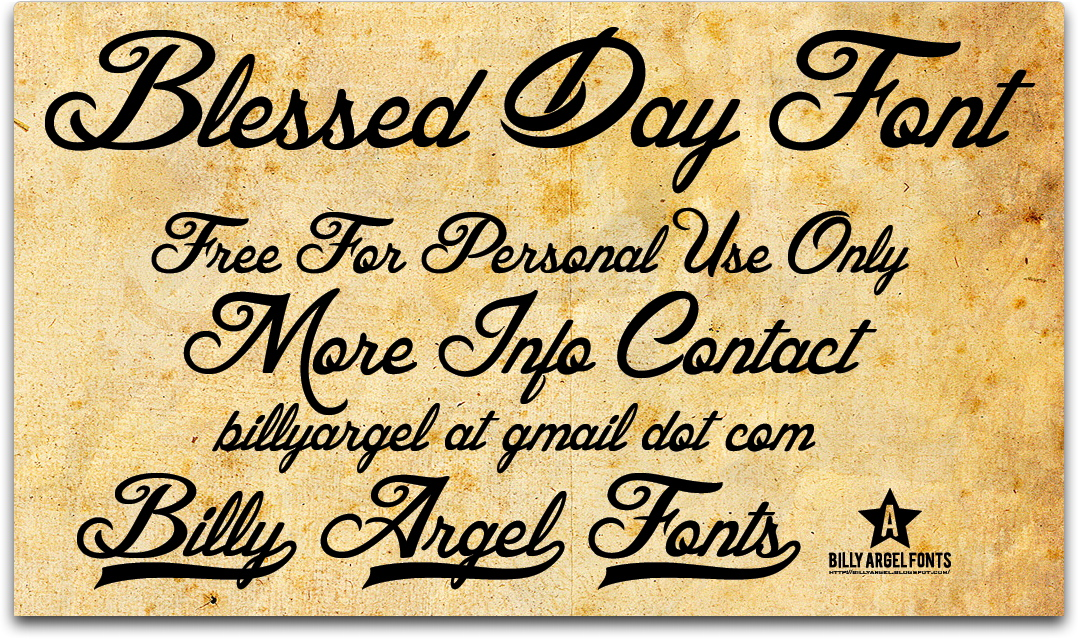 Blessed Day font