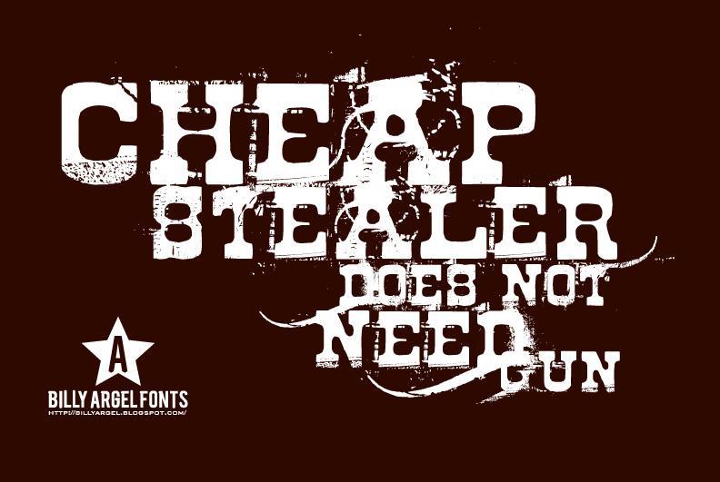 Cheap Stealer font