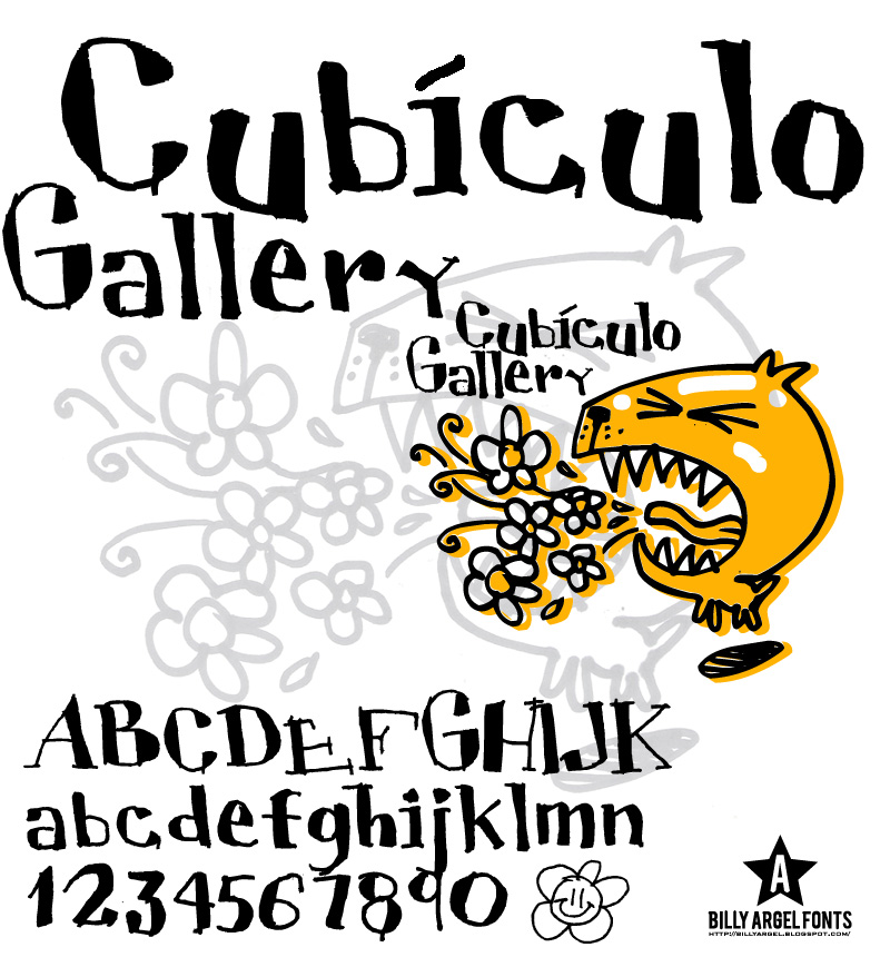 Cubiculo Gallery font