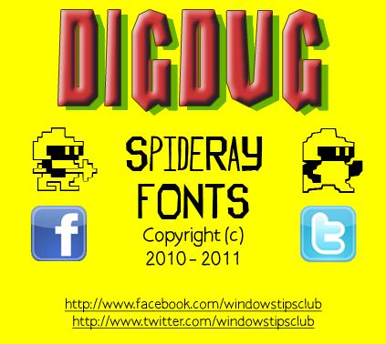 Dig Dug font