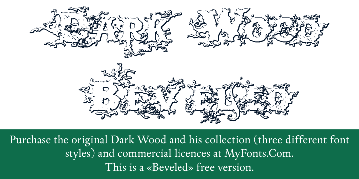 Dark Wood Beveled font
