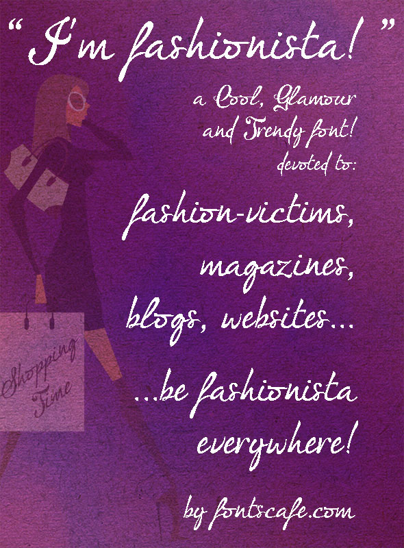 I'm fashionista! font