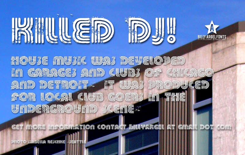 Killed DJ font
