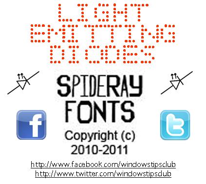 Light Emitting Diodes font