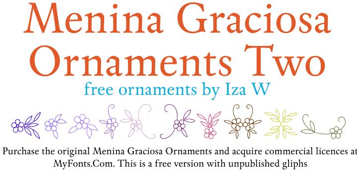 Menina Graciosa Ornaments Two font