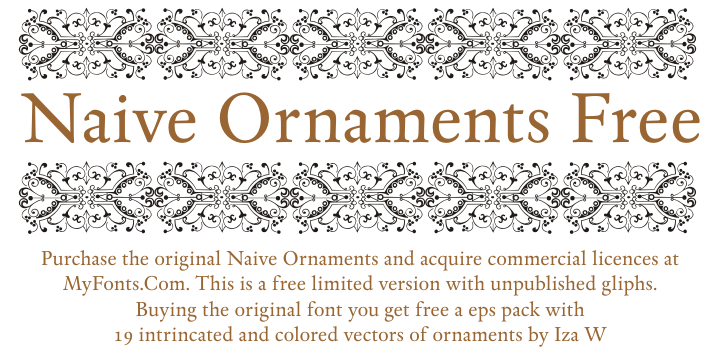 Naive Ornaments font