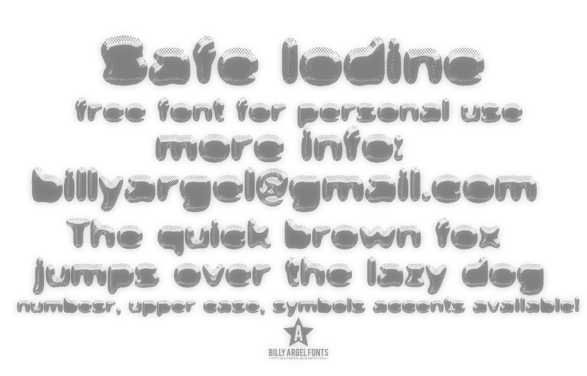 Safe Iodine font