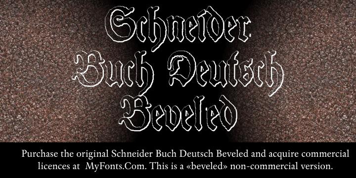 Schneider Buch Deutsch font
