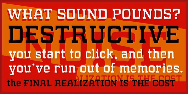 What Sound Pounds? font