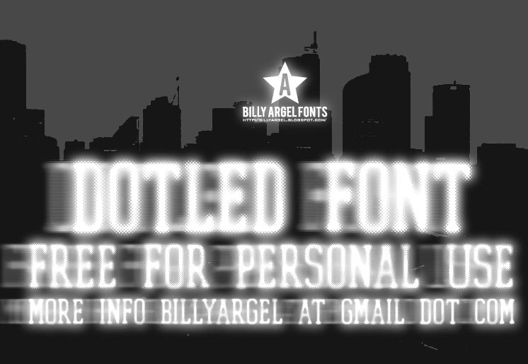 Dotled font