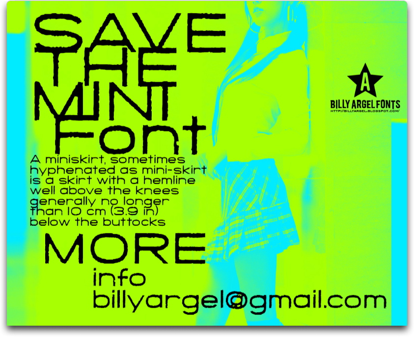 Save The Mini font
