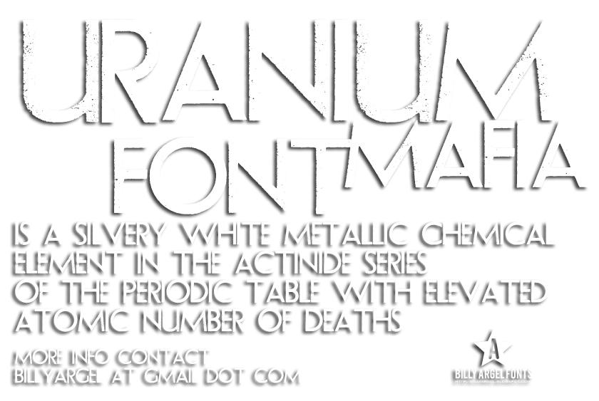 Uranium Mafia font