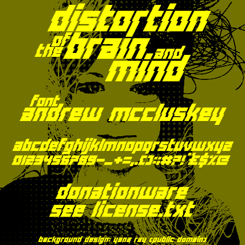 Distortion Of The Brain And Mind font