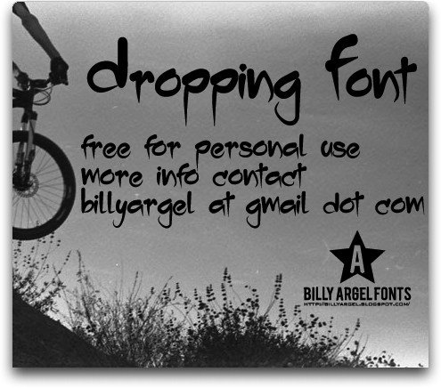 Dropping font