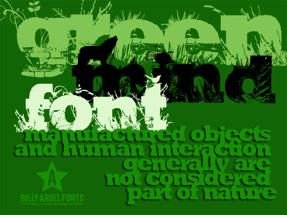 Green Mind font