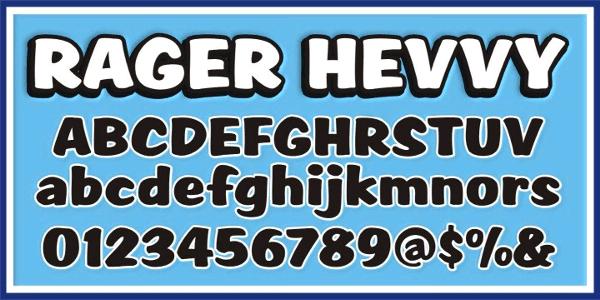 Script1 Rager Hevvy font