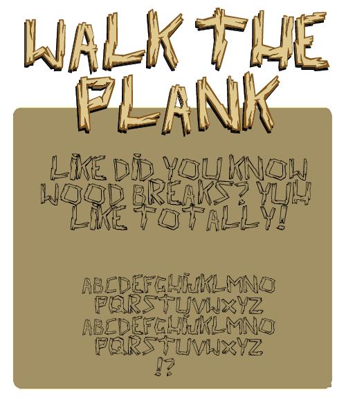 Walk the Plank font