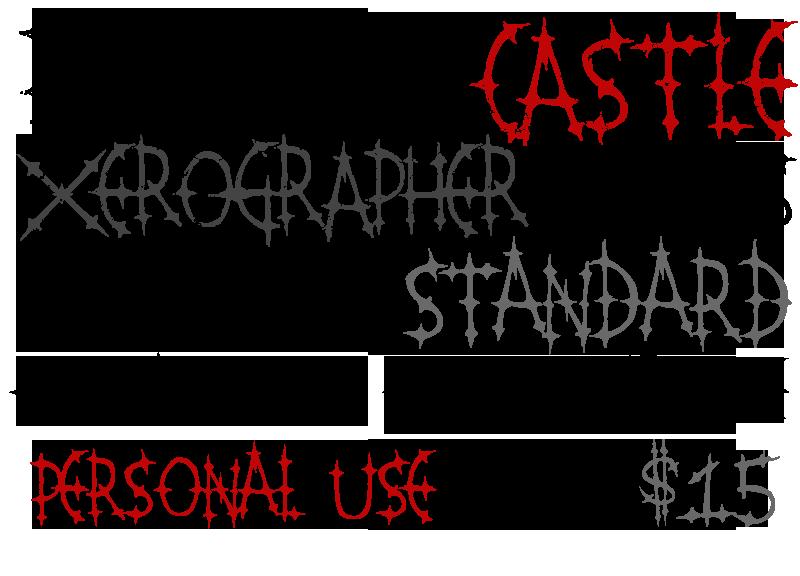 Pleasure Castle font