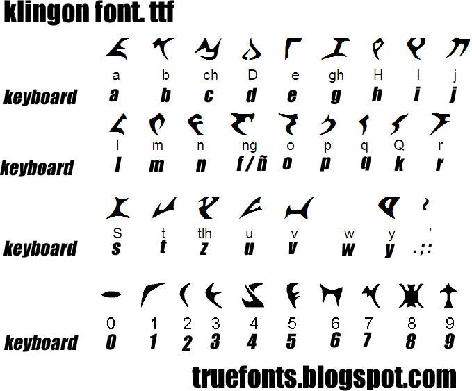 Klingon font