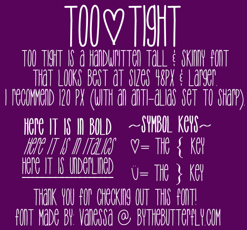 Too{Tight font