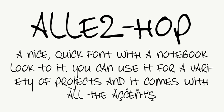 DK Allez Hop font