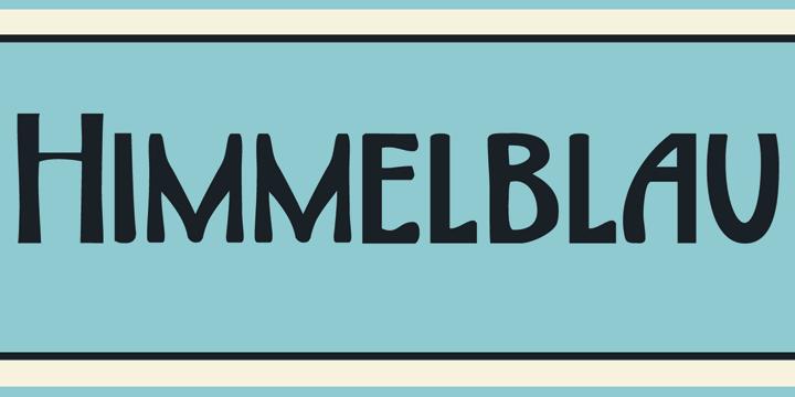 DK Himmelblau font